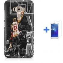 Kit Capa TPU Zenfone 3 ZE552KL Michael Jordan 23 Basquete + Pel Vidro (BD01) 639ccbb633ee0