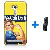 Kit Capa TPU Zenfone GO ZB500KL We Can Do It Pinup + Pel Vidro (BD01) - BD Net Imports