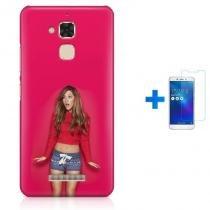 Kit Capa TPU Zenfone Max ZC520TL Ariana Grande + Pel Vidro (BD01) - BD Net Imports