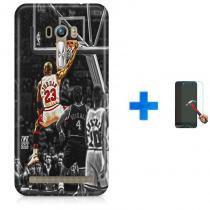Kit Capa TPU Zenfone Selfie ZD551KL Michael Jordan 23 Basquete + Pel Vidro (BD01) - BD Net Imports