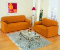 Kit capas para sofa 2 e 3 lug em malha 1 elastico mostarda - Branyl