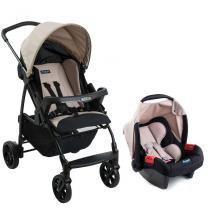 Kit Carrinho Ecco Capuccino e Bebê Conforto Touring Evolution SE - Burigotto -