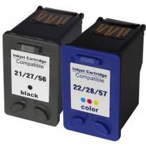 KIT Cartuchos HP21 HP22 HP27 HP28 56 57 Compatível para HP D2360 1310 1315 3335 - Microjet