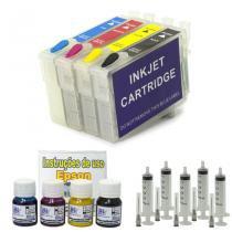 Kit cartuchos recarregáveis t40w  + 120 ml de tinta pigmentada - Visutec