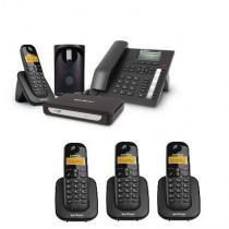 Kit Central Telefônica Sem Fio MiniCom Plus + 3 Ramais Intelbras -