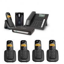 Kit Central Telefônica Sem Fio MiniCom Plus + 4 Ramais Intelbras -