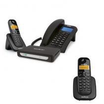 Kit Central Telefônica Sem Fio MiniCom Slim + 1 Ramal Intelbras -