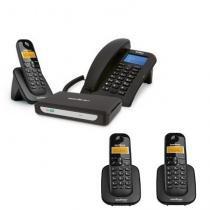 Kit Central Telefônica Sem Fio MiniCom Slim + 2 Ramais Intelbras -