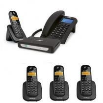 Kit Central Telefônica Sem Fio MiniCom Slim + 3 Ramais Intelbras -