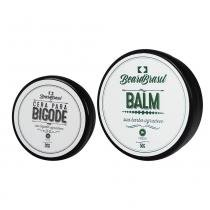 Kit Cera para Bigode 20g Balm Bálsamo para Barba Fresh 50g - Beard Brasil -