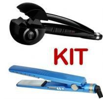 Kit Chapinha Nano Azul Bivolt Modelador De Cachos Preto Bivolt - Morgadosp