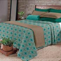Kit Cobertor Blanket Hedrons Casal Vintage Plush - Hedrons