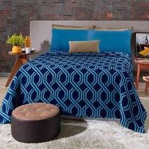 Kit Cobertor Blanket Hedrons Queen Trellis Plush - Hedrons