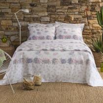 3817b7c7b1 Kit Cobre Leito Solteiro Rosa Beatriz 2 Pçs Home Design Santista -