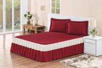 Kit colcha agatha rosdry m401-2 casal padrão 3 peças vermelha - Rosdry enxovais
