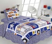 Kit Colcha Solteiro Kids Patchwork  Sultan - Music - Sultan