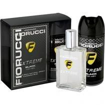 Kit colônia fiorucci black 100ml + desodorante aerosol - Miraflores