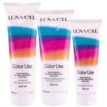 Kit Color Use Lowell Shampoo 240ml, Condicionador 200ml e Leave-in 120ml - Lowell