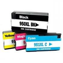 Kit Colorido de Cartucho de Tinta Compatível 950xl 951xl para impressora HP Officejet Pro 8100 8600 Plus 8600W 8610 8620 251DW N911A N811A - Microjet