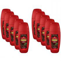 Kit com 10 Desodorantes Old Spice Roll On Lenha 50mL -
