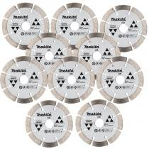 Kit com 10 Disco Diamantados 4.1/8 POL para Granito D-44351 MAKITA -