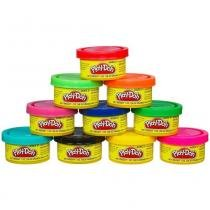 Kit com 10 Potes de Massinhas Play-Doh 22037 - Hasbro - Hasbro