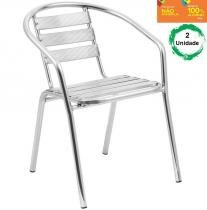 Kit com 2 Cadeiras 100 em Alumínio para Jardim - Alegro Móveis Alegro Móveis