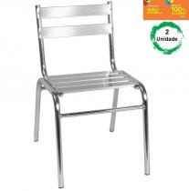 Kit com 2 Cadeiras 106 em Alumínio para Jardim - Alegro Móveis Alegro Móveis