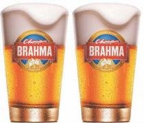 Kit com 2 Copos Brahma Chopp 350ml - Embalagem Individual -