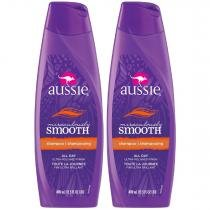 Kit com 2 Shampoos Aussie Miraculously Smooth 400ml -