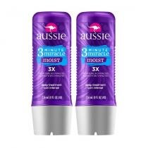 Kit com 2 Tratamentos Aussie Moist 3 Minutos Miraculosos 236ml -
