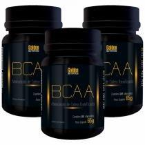 Kit Com 3 Bcaa - 100 Cápsulas - Golden Nutrition -