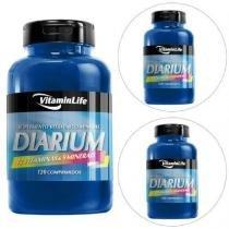 Kit com 3 Diarium - Multivitamínico 120 comprimidos - VitaminLife -