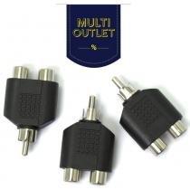 Kit com 3 unidades de adaptador t rca split - Multivisi