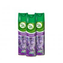 Kit com 3UN Odorizadores Bom Ar Air Wick Lavanda 360ml -