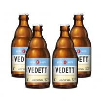 Kit Com 4 Cervejas Vedett Extra White 330ml -