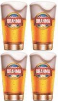 Kit com 4 Copos Brahma Chopp 350ml - Embalagem Individual -