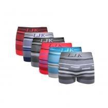 Kit com 5 Cuecas Premium Boxer sem costura LJK: Tamanho G/GG -