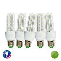 Kit com 5 Lâmpadas LED Super Econômica E27 7W, 6000K - UNICA - UNICO - OUTRAS