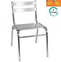 Kit com 6 Cadeiras 106 em Alumínio para Jardim - Alegro Móveis - Alegro Móveis