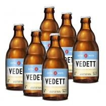 Kit Com 6 Cervejas Vedett Extra White 330ml -