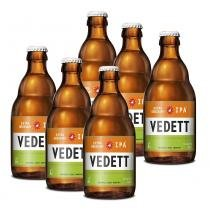 Kit Com 6 Cervejas Vedett IPA 330ml -