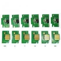Kit  com 6 chips para canon nos modelos ipf500,ipf510,ipf600,ipf605,ipf610,ipf700,ipf710,ipf720 - Visutec