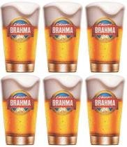 Kit com 6 Copos Brahma Chopp 350ml - Embalagem Individual -