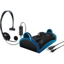 Kit com headset, base carregadora e cabo de carga para PS4 DGPS4-6411 DREAMGEAR -