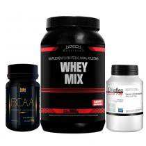 Kit Com Whey Mix Nitech Chocolate 900G + Dilaflex Extra Pump Intlab + Bcaa Golden - Nitech nutrition