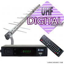 Kit Conversor Digital Infokit 1080p ITV-200 + Antena Capte Banda Total Custom 34 Elementos - Infokit - Next