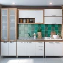 Kit Cozinha 6 Módulos 5718-T10 Com Vidro - Toscana - Multimóveis -