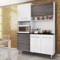 Kit cozinha açucena ii - branco-cinza grigio - irmol -