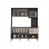 Kit Cozinha Compacta 05 Portas B108 Fendi/Moka - Briz -